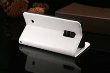 Genuine Real Cow Leather Slim Wallet Flip Case Cover Samsung Galaxy Note Edge