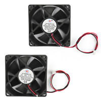 DC Brushless Cooling PC Computer Fan 12V 24V 8025s 80x80x25mm 0.2A 2 Pin UE