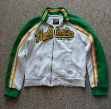 Hollister Spell Out Sweater Zip Jacket Raised Letter Green Bay Packer Colors S