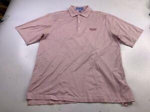 Fairway & Greene Men's XL Striped Polo Golf Shirt sandy lane Barbados