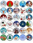 30 x MIXED PREMIUM CHRISTMAS EDIBLE FAIRY CUP CAKE TOPPERS XMAS INCLUDED D3