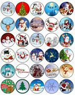 30 x MIXED PREMIUM CHRISTMAS EDIBLE FAIRY CUP CAKE TOPPERS XMAS FREE P&P D3