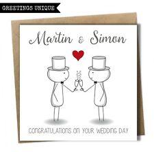 Personalised Wedding Day Card Mr and Mr Groom Same Sex Gay Civil Wedding Card