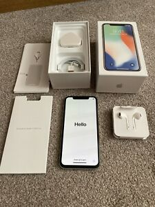 Apple iPhone X  64Gb unlocked in Silver - Light use in great condition