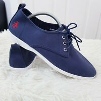 Original Penguin Mens Canvas Trainers Shoes Size 42 - Navy Lace Up