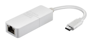 D-Link DUB-E130 USB C 3.0 Gigabit Ethernet Adapter for Windows & MacOS 1000Mbps