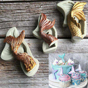 3D Mermaid Tail Silicone Cake Fondant Sugarcraft Mould Chocolate Baking Mold DIY