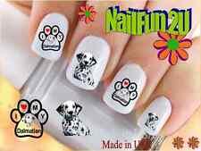 "Nail Art #128 Dog Breed ""Love my Dalmatian"" WaterSlide Nail Decals Transfers"