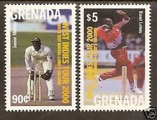 GRENADA 2000 LORD'S CRICKET 100th TEST MATCH 2v MNH