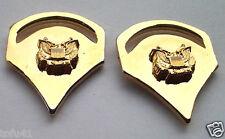 1 PAIR (2) ARMY RANK SPC-5 Military Veteran (GOLD) Collar / Hat Pins P12760 EE