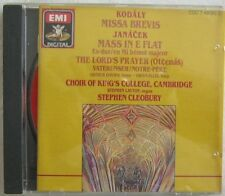 Kodaly Missa Brevis Janacek Mass in E flat Choir Kings Col EMI 7 49092 2 IMPORT