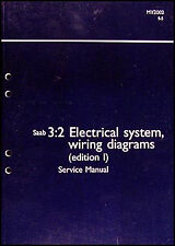 2002 Saab 9 5 Electrical Shop Manual Wiring Diagrams Original Schematic Book 95