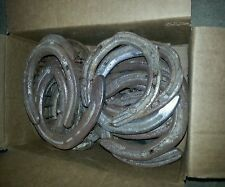 Old used horseshoes for blacksmith or art