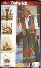 Butterick 4966 Misses Appliqued Vests Skirts Pattern UNCUT FF embroidery floral