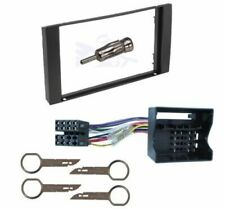 FORD FOCUS MK 2 2005 ONWARDS BLACK DOUBLE DIN FASCIA FACIA FULL KIT CT24FD18