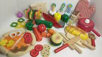 90+ Wooden Plastic Fabric Melissa and Doug Play Food Utensils Pot Kids Pretend