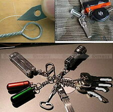 EDC Stainless Gear Tweezers Tick Gripper Keychain Survival Bushcraft Pocket Tool