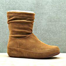 FITFLOP  Tan Suede Zip Up Crush Boots Women's sz 8 EU 39  NEW
