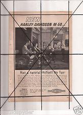 Vintage 1965 Popular Mechanics Magazine Ad A131 Harley Davidson M-50 M 50