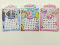 Kids Nail stickers lot Adhesive Nail Art Stickers Decals Frozen Disney Princess