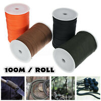 100m Roll Outdoor Survival Camping Hiking 550 Paracord Parachute Rope Lanyard 9