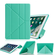 """For Apple iPad 9.7"""" 10.2"""" Air mini Pro 11 Leather&Silicone smart Soft Case Cover"""