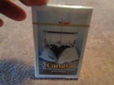CARNIVAL CRUISE LINE ADVERTISING NEW VINTAGE SEALED DECK OF PLAYING CARDS