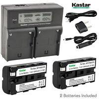 Kastar Battery Charger Sony NP-F330 NP-F550 NP-F570 BC-VM10 LED MOUNT V-MOUNT