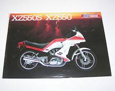 Prospetto/opuscolo YAMAHA XZ 550 S/XZ 550-STAND 1983!