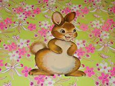 "Vtg Easter Dennison Cardboard Decoration Die Cut Bunny Rabbit 7"" Rare #N"