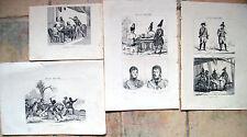 1836 NAPOLEONE IN AUSTRIA LOTTO INCISIONI: LEOBEN, TRUPPE AUSTRIACHE UNIFORMI