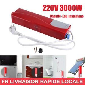 3000W Mini électrique sans réservoir chauffe-eau instantané cuisine EU (rouge)