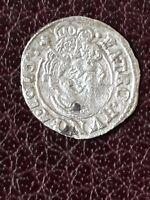 """Hongrie, Féodale, Dénar, Argent. 1616. """"MATHIAS II, 1608)1619""""  TTB"""