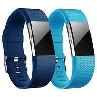 2x Fitbit Charge 2 Armband Ersatz Silikon Band Uhrenarmband Fitness Tracker