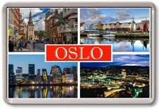 FRIDGE MAGNET - OSLO - Large - Norway TOURIST