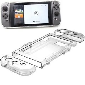 1set Shockproof Crystal Clear Full-Body Hard Protective Case For Nintendo Switch