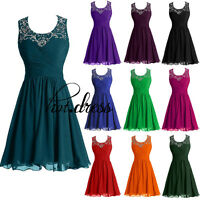 Stock New Short Chiffon Formal Prom Party Cocktail Evening Gown Bridesmaid Dress