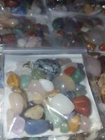100 Carats Mixed Tumbled Polished Gemstones