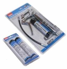 PISTOL GRIP MANUAL GREASE GUN SET WITH GREASE CARTRIDGE WITH 3 CARTRIDGES