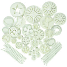 53pc Fondant Cake Decorating Icing Plunger Cutters Tools Mold Mould Shapes Press