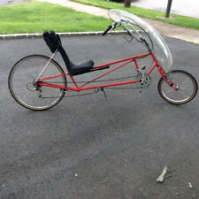 Recumbent bicycle-Tour Easy Red, Full Fairing, clip less pedals, great condition