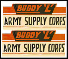 Replacement water slide decal set for Buddy L  Army Supply truck