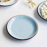 Ceramic Snack Dessert Fruit Plate Delicate Porcelain Dish Home Tableware