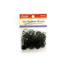 Annie 300 Rubber Bands Ponytail Holder Braids Headband Elastic Ring Black #3147