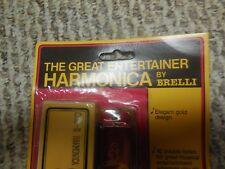 Vintage 1985 BRELLI C82-III Harmonica 16 HOLES NEW THE GREAT ENTERTAINER