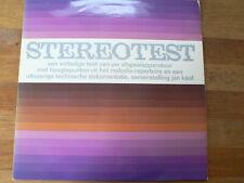 LP RECORD STEREOTEST EEN VOLLEDIG TEST VAN UW AFSPEELAPPARATUUR MELODIA