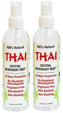 Thai Deodorant Crystal Mist Natural Deodorant Spray 8 oz. Bundle, 2 Pack