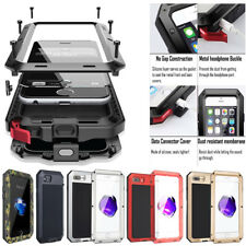 For iPhone X 6S 7 8 Plus 5S HEAVY DUTY Shockproof Aluminum Metal Hard Cover Case