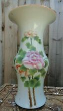 polychrome vase chinese porcelain old 13 3/4 x 6 inches vintage flower export