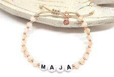 NEU! Individuelles Namensarmband in diamond peach+ roségold- Armband mit Name
